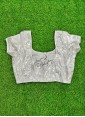 Lovely Silver Sequins Georgette Blouse - 1