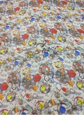 Abstract Digital Print Chinon Crepe Fabric Per Meter