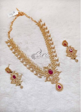 AD Stone Designer Necklace Set