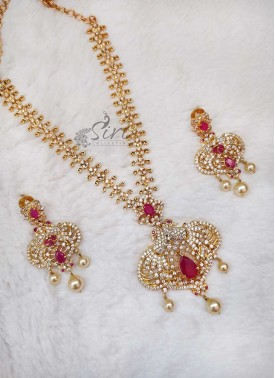 AD Stone Trendy Necklace Set