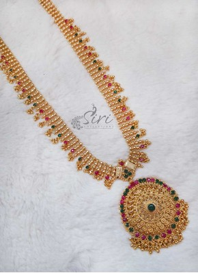 Kemp Stone Gold Micro Polish Long Necklace Haaram