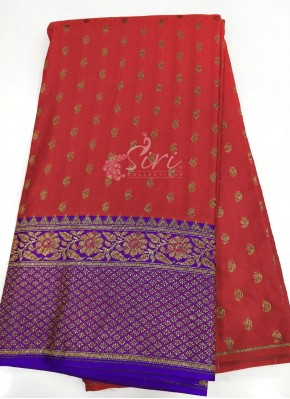 Banarasi Silk Fabric in Antique Zari Per Meter