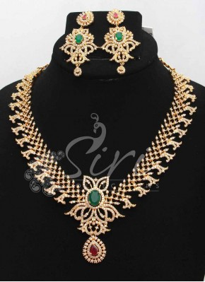 Beautiful AD Stone Designer Necklace Set