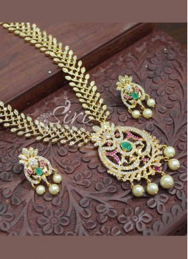 Beautiful AD Stone Necklace Set