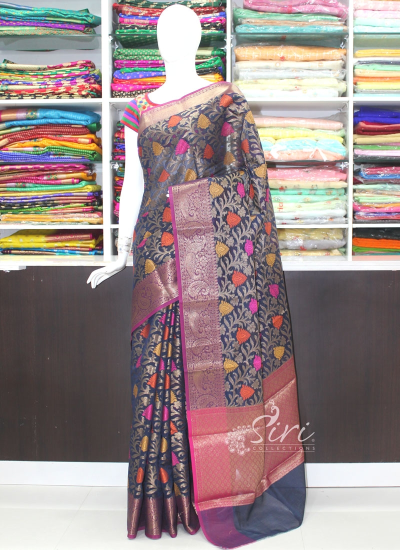 Beautiful Banarasi Cotton Silk Saree