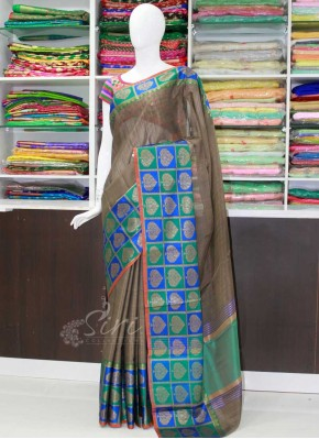 Beautiful Banarasi Cotton Silk Saree in Rich Borders
