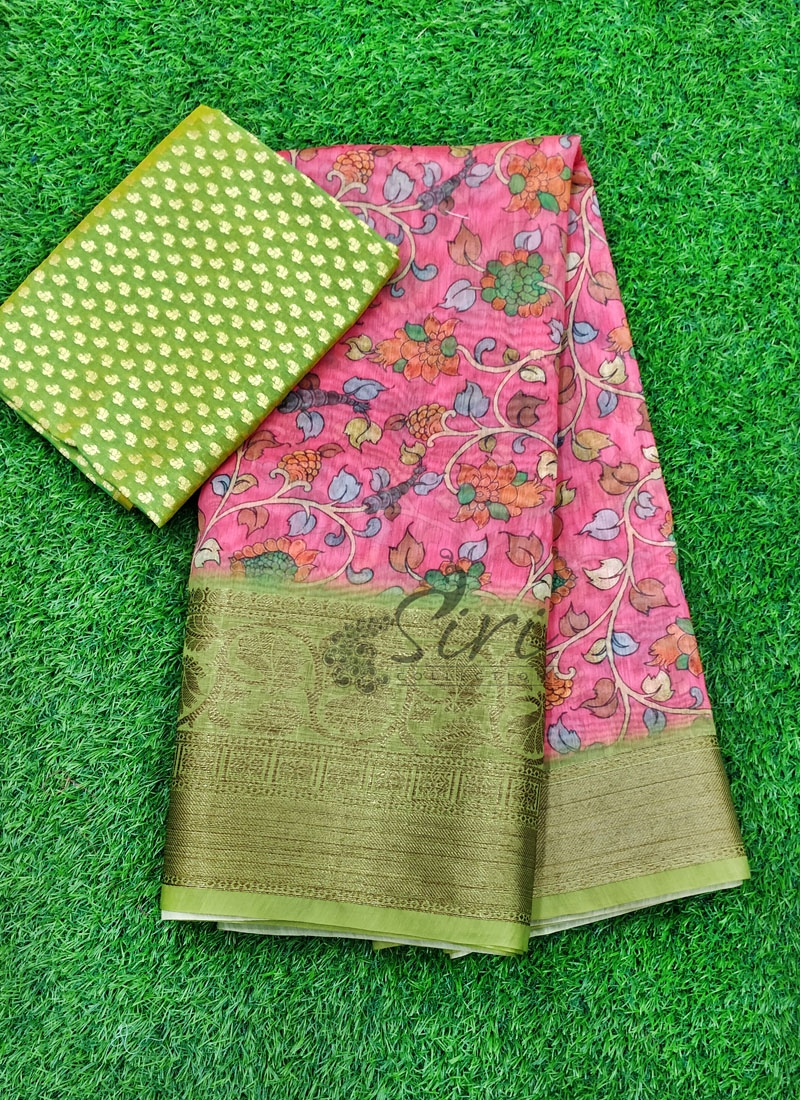 Beautiful Banarasi Fancy Dupion Silk Digital Print Saree