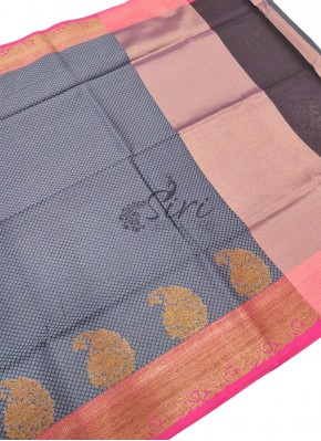 Beautiful Banarasi Kora Saree in Tanchoi Weave