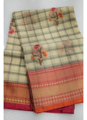 Beautiful Banarasi Organza Saree in Embroidery Work Butis