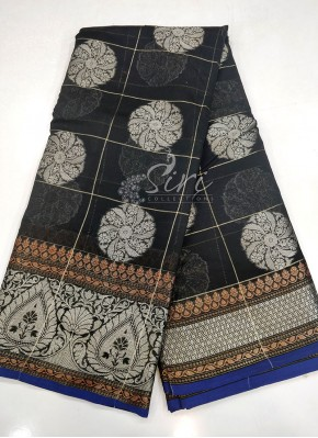 Beautiful Black Chanderi Saree