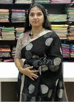 Beautiful Black Fine Banarasi Net Saree in Silver Zari