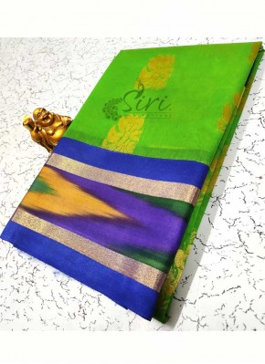 Beautiful Fancy Cotton Silk Saree in Ikat Design Borders
