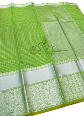 Beautiful Cotton Silk Saree in Silver Zari