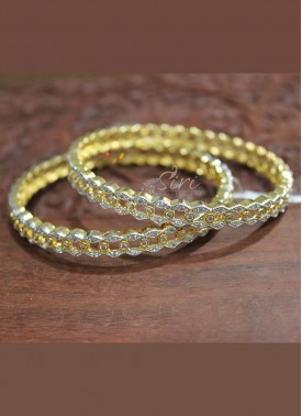Beautiful CZ Pair of Bangles