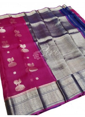 Beautiful Designer Pure Kanchi Organza Handloom Silk Saree in Jumkha Design