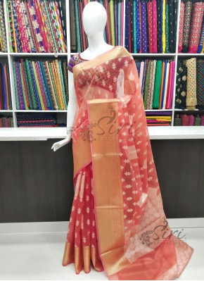 Beautiful Elegant Munga Kora Saree