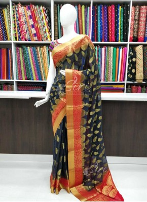 Beautiful Fancy Banarasi Chiffon Saree