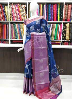 Beautiful Fancy Banarasi Cotton Silk Saree