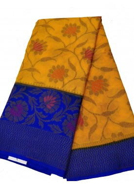 Beautiful Fancy Banarasi Dupion Silk Saree in Multi Color Buti