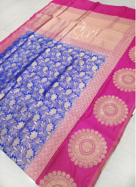 Beautiful Fancy Banarasi Silk/Pattu Saree in Contrast Border
