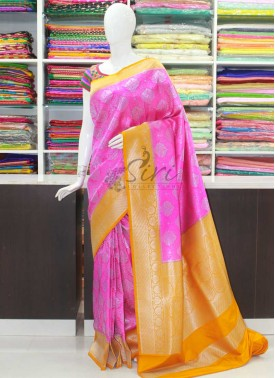 Beautiful Fancy Banarasi Silk Saree in Contrast Border