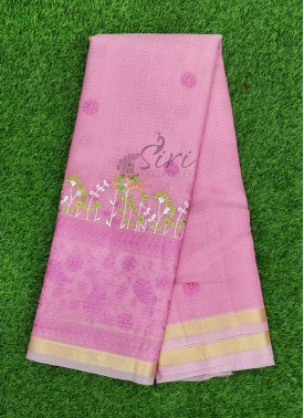 Beautiful Fancy Kota Saree in Lovely Embroidery Work