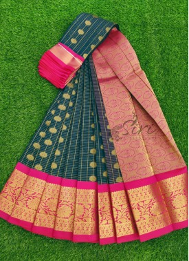 Beautiful Fancy Kuppadam Cotton Silk Saree