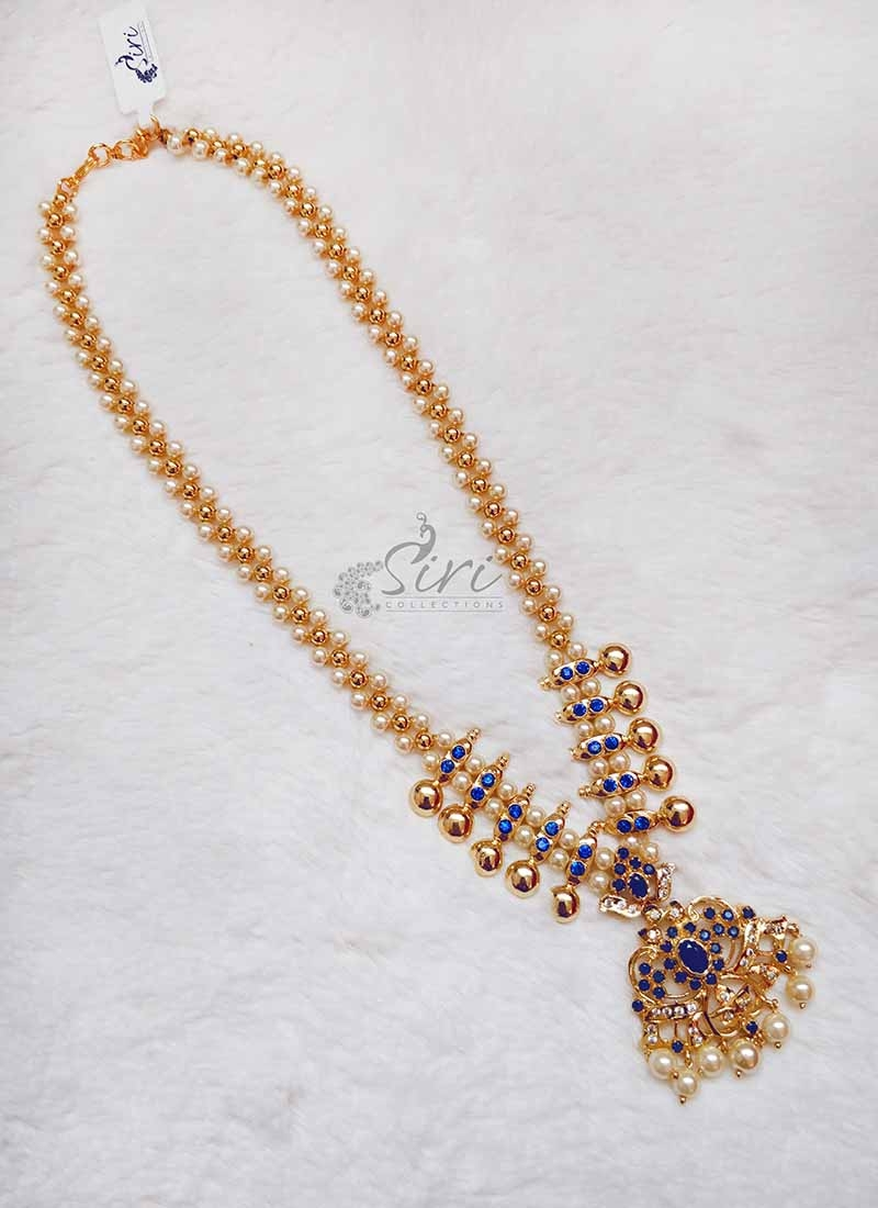 Beautiful Fancy Necklace with Blue stones