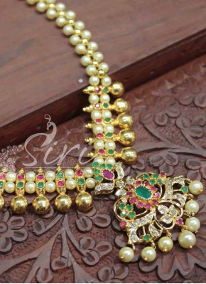 Beautiful Fancy Necklace with Pearl Drops