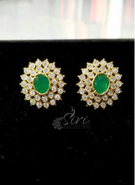Beautiful Fine AD Stone Earrings Studs