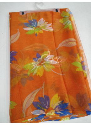 Beautiful Garden Vareli Nara Chiffon Saree in Flower Print