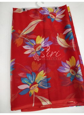 Beautiful Garden Vareli Nara Chiffon Saree in Flow
