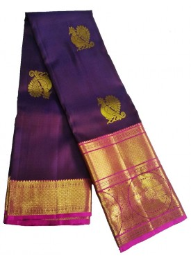 Beautiful Handloom Pure Kanchipuram Silk Pattu Sar