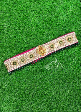Beautiful HandWork Belt in Lakshmi Unit and Motis
