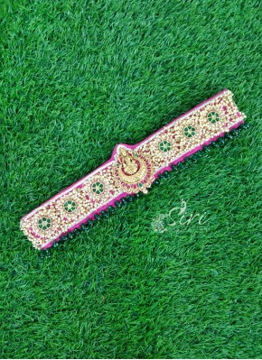 Beautiful HandWork Belt in Lakshmi Unit and Pearls