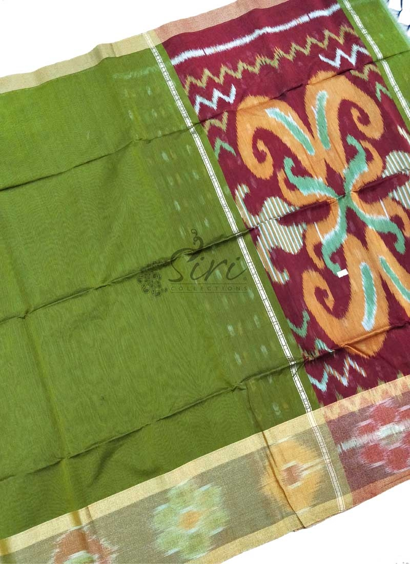Beautiful Ikat Design Coimbatore Seico Saree