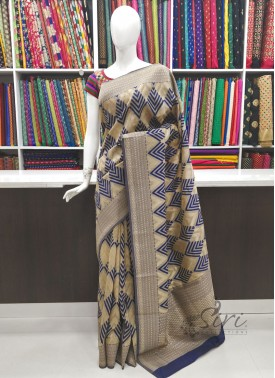 Beautiful Jute Banarasi Jute Saree in Rich Body and Pallu