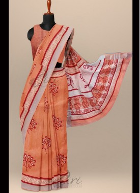 Beautiful Linen Cotton Saree