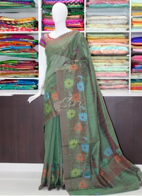 Beautiful Linen Jute Saree