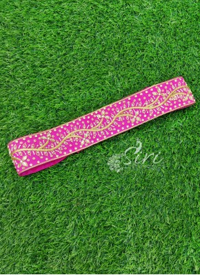 Beautiful Magenta Belt in Zardosi Bead Stone Work