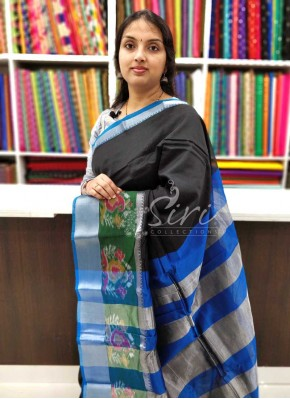Beautiful Mangalagiri Pattu Saree in Ikat Borders