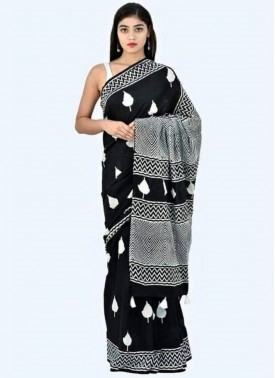 Beautiful Mul Mul Cotton Saree-