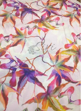 Beautiful Multi Colour Digital Print Crepe Silk Fabric Per Meter