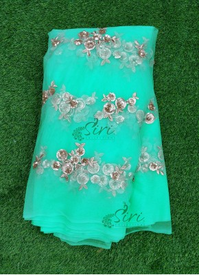 Beautiful Net Fabric with Sequins and Bead Work Embroidery