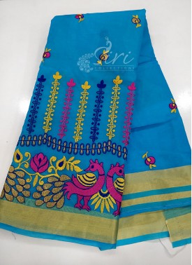 Beautiful Organza Saree in Embroidery Work