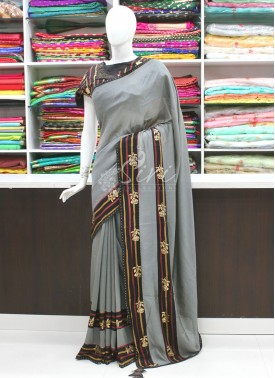 Beautiful Partywear Fancy Saree In Designer Borders