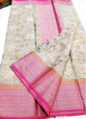 Beautiful PartyWear Pure Tissue Kota Saree