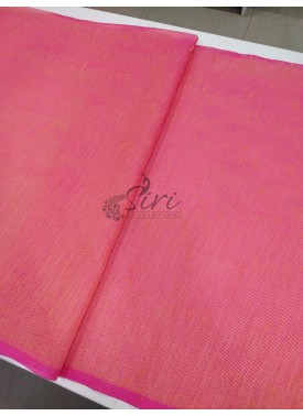 Beautiful Peach and Pink Shaded Fancy Gunjan Self Weave Line Fabric Per Meter
