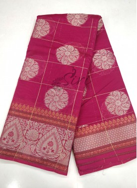 Beautiful Pink Chanderi Saree