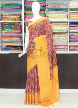 Beautiful Printed Fancy Banarasi Silk Saree
